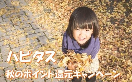ハピタス 秋のポイント還元キャンペーンで1万円を狙ってみる