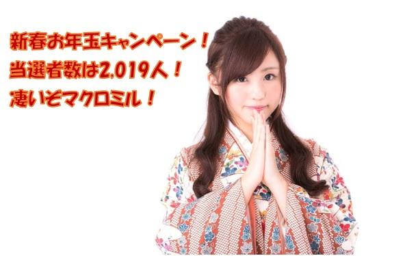 2019年 新春お年玉キャンペーンの当選者が2,019人と凄いぞマクロミル!!