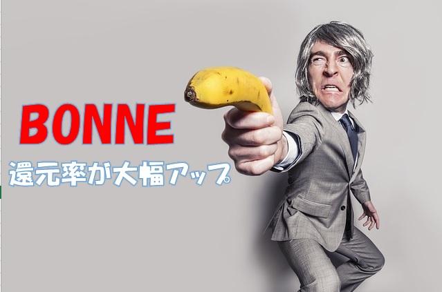 ついにBONNEの還元率が40%超えた!購入するなら今でしょう!