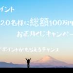 i2iポイント 2020名様に当たるお正月キャンペーン。必ずポイントももらえる