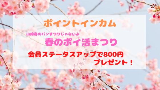 春のポイ活まつり!プラチナ会員になると800円もらえる