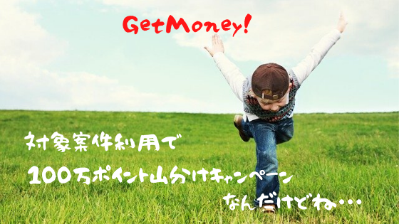 GetMoney! 100万ポイント山分けキャンペーン!なんだけど・・・