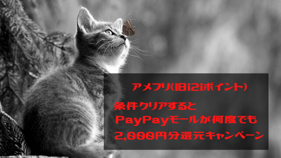 アメフリ 条件クリアでPayPayモールが何度で2,000円還元キャンペーンってお得?
